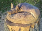 New fox wood carving at Bulwell  Hall Park